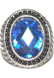 Anel Sir.W Pedra Azul