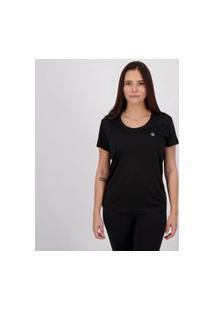 Camiseta Olympikus Essential Feminina Preta.