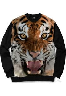 Blusa Bsc Tiger Full Print - Masculino-Preto