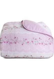 Edredom Royal Queen Size- Rosa Claro- 240X260Cm-Santista