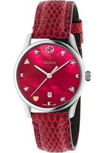 8897201ceefb4 ... Relógio Gucci Feminino Couro Vermelho - Ya1264041