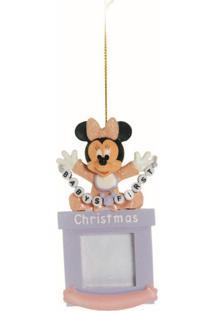 Enfeite Para Arvore Porta Retrato Disney Baby Minnie 12 X 6 Cm