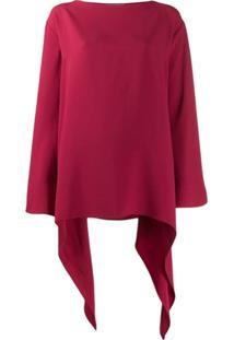Alberta Ferretti Curved Oversized Top - Vermelho