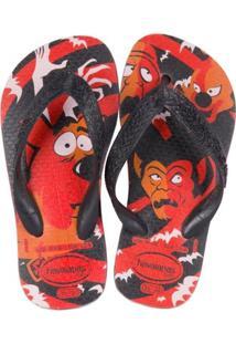 Sandália Scooby Doo Abóbora - Havaianas - Masculino-Vermelho+Preto