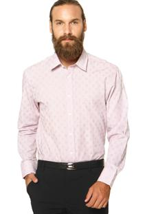 Camisa Perry Ellis Xadrez Rosa