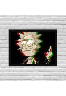 Quadro Decorativo Série De Tv Rick Punk Rick And Morty Preto - Grande