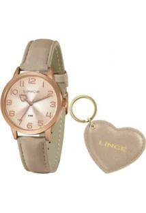 Relógio Lince Feminino Rosê Analógico - Lrc4672L-Kn32R2Rx