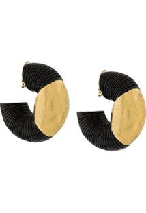 Monies Contrast Earrings - Preto