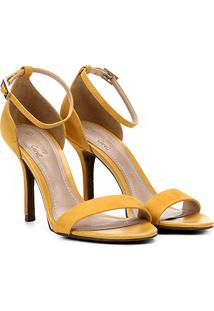 Sandália Dumond Salto Fino Feminina - Feminino-Amarelo
