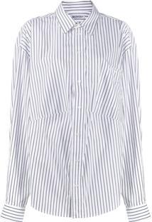Balenciaga Camisa Com Modelagem Masculina - Branco
