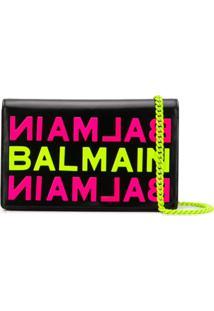 Balmain Logo Clutch - Preto