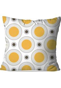 Capa De Almofada Love Decor Avulsa Círculos Amarelo Multicolorido - Kanui
