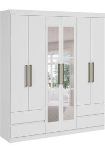 Guarda-Roupa Casal Com Espelho Zeus 6 Pt 4 Gv Branco