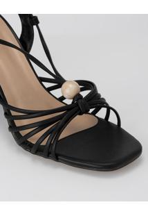 Sandália Amarração E Tiras Finas