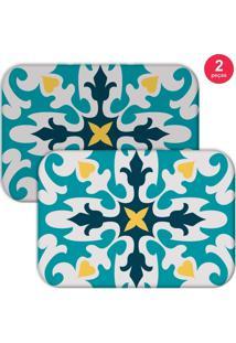 Jogo Americano Love Decor Mandala Azul - Kanui