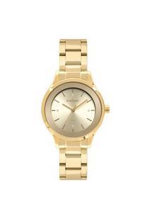 Relógio Condor Feminino Clássico Analógico Dourado Co2035Fbzk4D