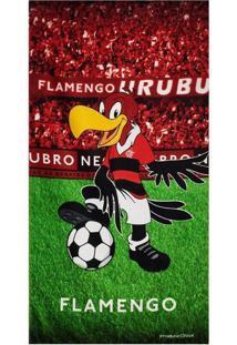 Toalha De Banho Bouton Flamengo Veludo Mascote