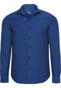 Camisa Masculina Dobby Paris - Azul