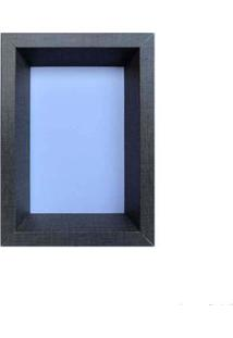 Porta Retrato 13X18Cm Bevel Cinza Infinity