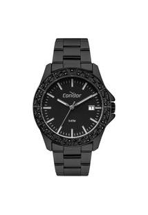 Relógio Condor Feminino Atemporal Analógico Preto Co2115Kwlk4P