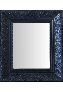 Espelho Moldura Rococó Fundo 16421 Preto Art Shop