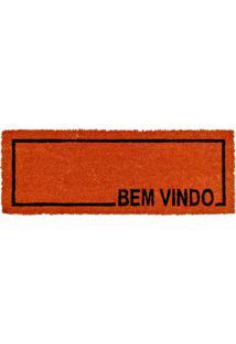 Capacho De Coco Slim-3 26X75 - Edantex - Vermelho