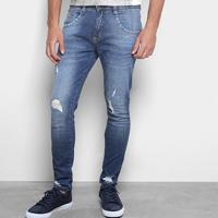 5298f5cb6 Calça Jeans Skinny Biotipo Rasgos Masculina - Masculino-Azul
