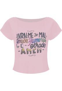 Camiseta Outletdri T-Shirt Estampa Livrai - Nude
