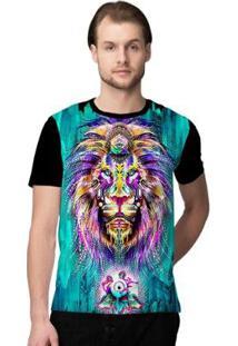 Camiseta Stompy Psicodelica15 Masculina - Masculino-Preto
