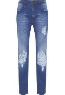 Calça Masculina Skinny Texas 3D - Azul