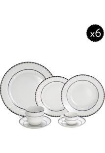 Aparelho De Jantar Em Porcelana Blue Silver- Off White &Wolff