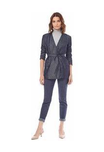 Blazer Alfaiataria Jeans Pp