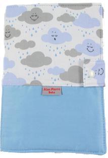 Capa Para Cartão De Vacinação - Alan Pierre Baby - Nuvem Azul Claro