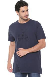 Camiseta Richards Vespa Azul-Marinho