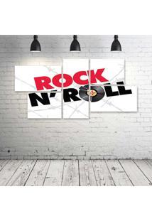 Quadro Decorativo - Rock'N-Roll - Composto De 5 Quadros