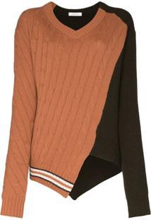 Delada Suéter Texturizado De Tricô - Marrom
