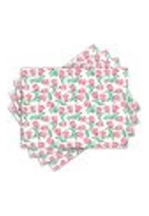 Jogo Americano - Flores Com 4 Peças - 497Jo