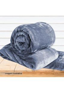 Cobertor Super Soft Queen Size- Azul- 220X240Cm-Sultan