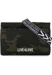 Ports V Bolsa Tiracolo Live 4 Love Com Estampa Camuflalda - Verde