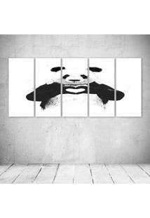 Quadro Decorativo - Love Panda - Composto De 5 Quadros - Multicolorido - Dafiti