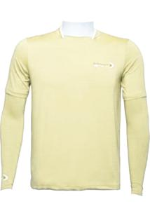 Camiseta Ml Dryfit Gola Filete Fishing Co. Bege Mojave Ufp 50+ Ref. 1027