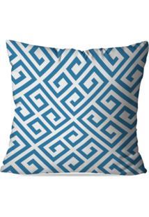 Capa De Almofada Avulsa Decorativas Blue Abstrato 45X45Cm