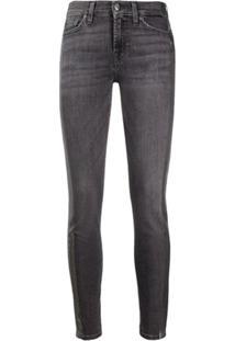 7 For All Mankind Calça Jeans Skinny Com Detalhe De Listras - Cinza