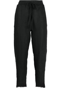 Thom Krom High-Waisted Tapered Trousers - Preto