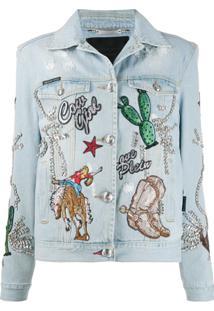 Philipp Plein Jaqueta Jeans Cowboy - Azul