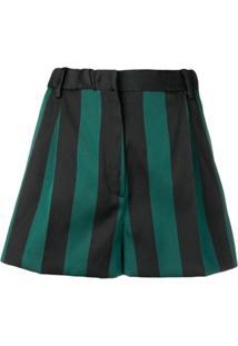 Nº21 Striped Short Shorts - Verde