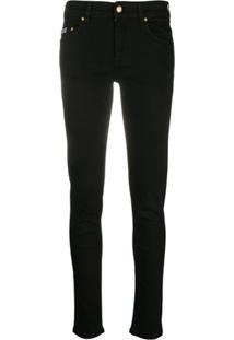 Versace Jeans Couture Calça Jeans Skinny Cintura Média - Preto