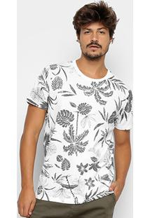 Camiseta Colcci Estampa Folhagem Masculina - Masculino