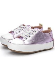 Sneakers Platinado Roxo Gambo Roxo
