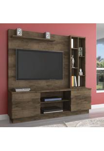 Estante Home Para Tv Até 55 Polegadas 2 Portas Inovare Atualle Móveis Mocaccino Rústico